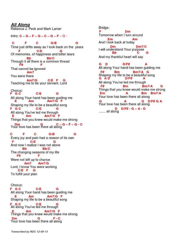 All along lyrics and chords hexwebz Choice Image