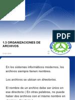 1.3 Organizaciones de Archivos