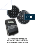 Electronic Entry Device Installation Instructions for Basic and Gard Series