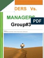 Leaders vs Management
