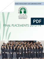 TISS HRM PlacementBrochure Final Placement 2012-14