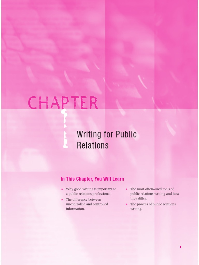 importance of public relations writing