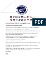 Broome Fishing Club AFL Tipping 2014 Rules