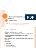 Biofiltration of Chlorinated VOCs