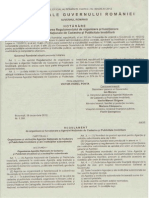 HG Nr. 1288 Din 2012 Pentru Aprobarea Reg.org. Si Func. ANCPI