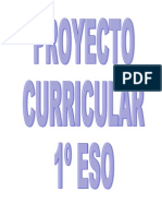 19641430 Proyecto Curricular 1 Eso