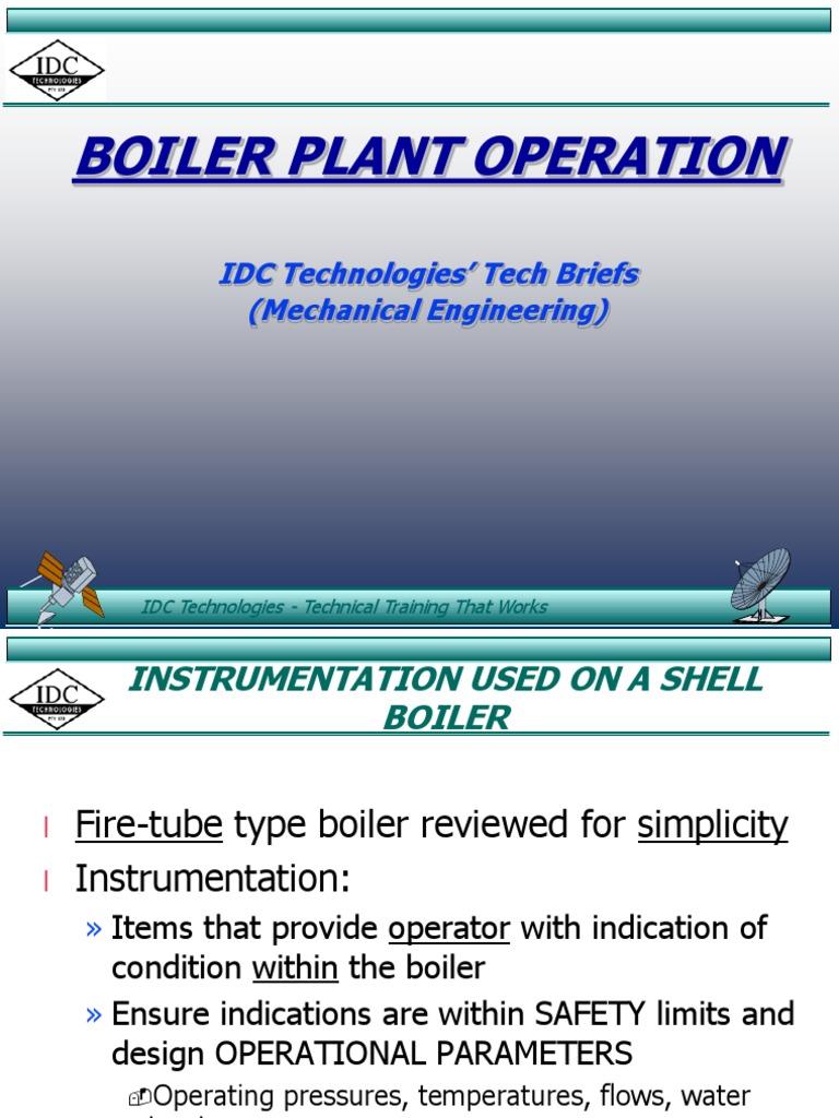 Boiler Operation | Instrumentation | Boiler