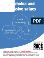 Islamophobia and Progressive Values Irr 2011