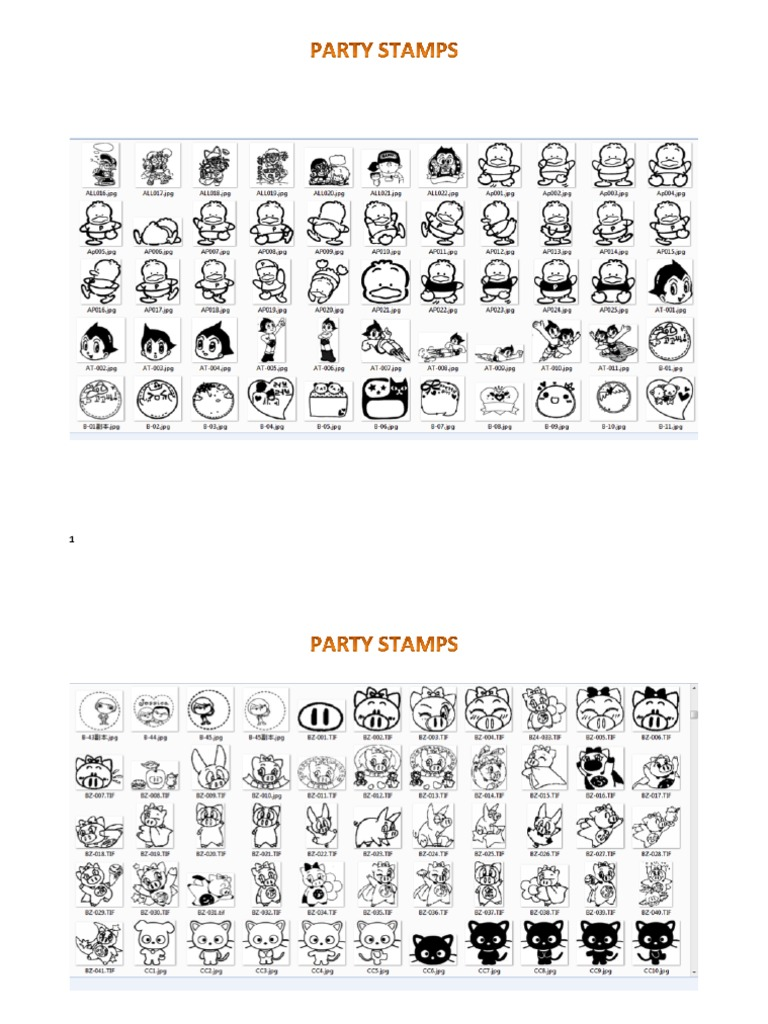 Stamp Characters Templates