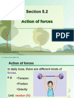 Section 5.2 Action of Forces