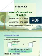 Section 5.4 Newton's Second Law of Motion