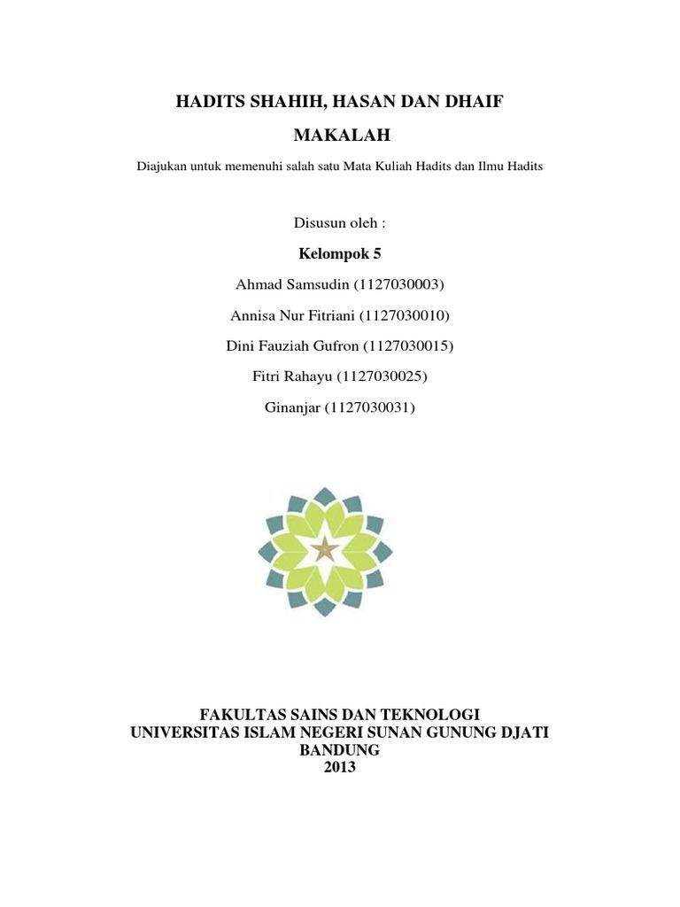 Kelompok 5 Hadits Shahih Hasan Dhaif
