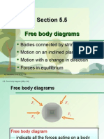 Section 5.5 Free Body Diagrams