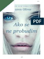 Lauren Oliver-Ako se ne probudim