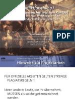 Int. Konfliktforschung I - Woche 05 - Die zwei Weltkriege und das Konzept der kollektiven Sicherheit (Übung)