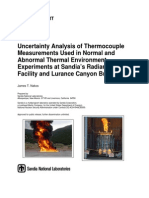 Uncertainty Analysis of Thermocouple Measurements
