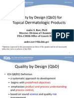 Topical Dermatologic Products - QbD