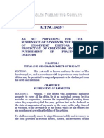 Act No. 1956, The Insolvency Law