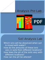 Soil Analysis Pre-Lab