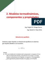 2. Modelos termodinámicos, componentes y propiedades