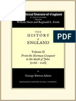 Hunt & Poole (Ed) Political History of England vol 02 Adams G B (1066 to 1216)