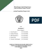 Paper Diversifikasi Pangan Lokal Sebagai Upaya Mencspsi Ketahanan Pangan