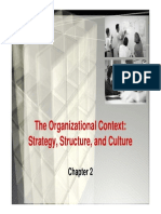 WEEK 2-The Organization Context Strategy, Structure and Culture [Compatibility Mode]