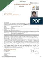 KVPY 2013 - Admit Card