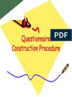 Questionnaire Construction Procedure1