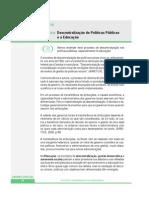 descentração de politicas publicas e a educação
