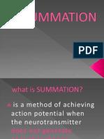 Summation & Termination of Neurot