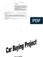Car Buying Project XLS 95 Excel (Version 1)