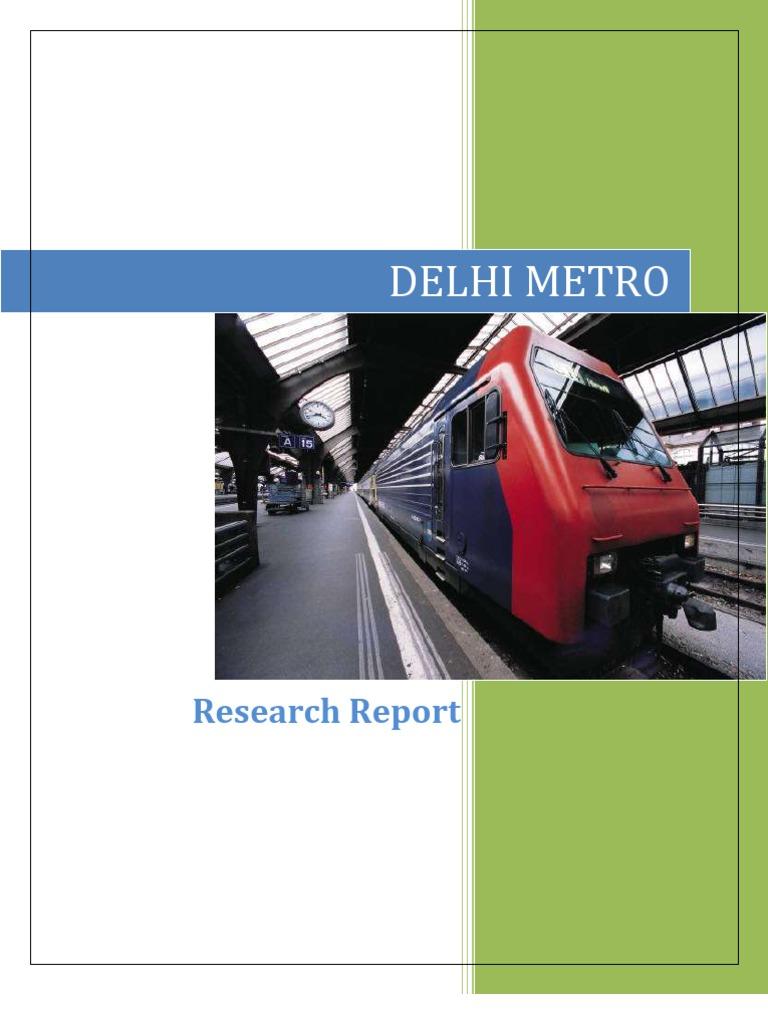 delhi metro research report rapid transit delhi