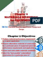 Process equipment design Materials Selection 7-02-13