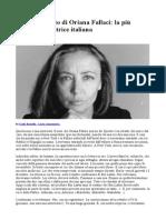 Ritratto Inedito Di Oriana Fallaci