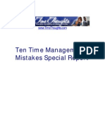 Ten Time Management Mistakes Special Report