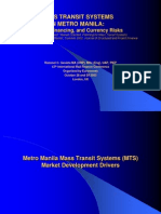 2002 Mass Transit Systems in Metro Manila Market, Financing, And Currency Risks Euromoney London Financing Mass Transit Systems (New Version)