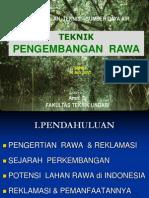 Pengenalan Pengembangan Daerah Rawa