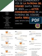 Triptico 2009 Santa Teresa Colegio de Abogados de Ciudad Real