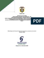 Metodolo Evaluacion Expost de Prog Proys Inv