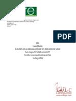 A 20 años de la liberalización del mercado del suelo