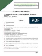 94740_Memoriu_Parcuri Fotovoltaice Melinesti_SC FUTURE GREEN POWER