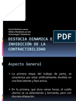 DISTOCIA DINAMICA E INHIBICIÓN DE LA CONTRACTIBILIDAD