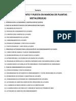 Temario Curso Comisionamiento y Puesta en Marcha de Plantas Metalurgicas