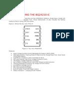 Testing the Bq24210 Ic