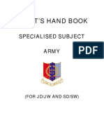 Cadet Hand Book SPL SUBJECT Army