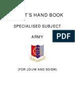 Cadet Hand Book SPL SUBJECT Army