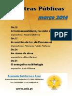 Palestras públicas marco 2014