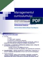 Managementul curriculumului