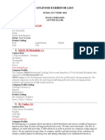 Gulfood Exhibitor List-M